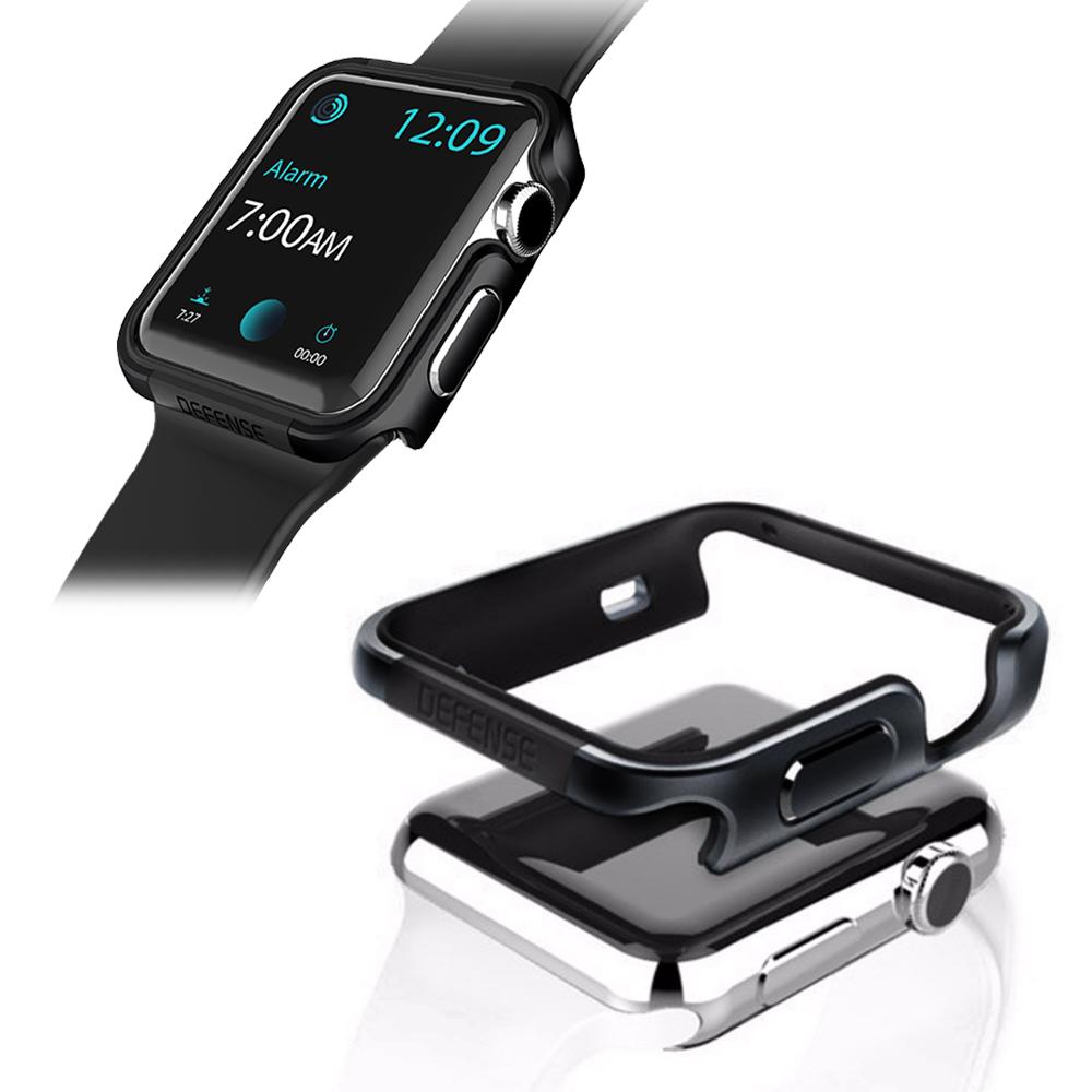 刀鋒Edge系列 Apple Watch 38mm 鋁合金雙料保護殼 保護邊框(經典黑)