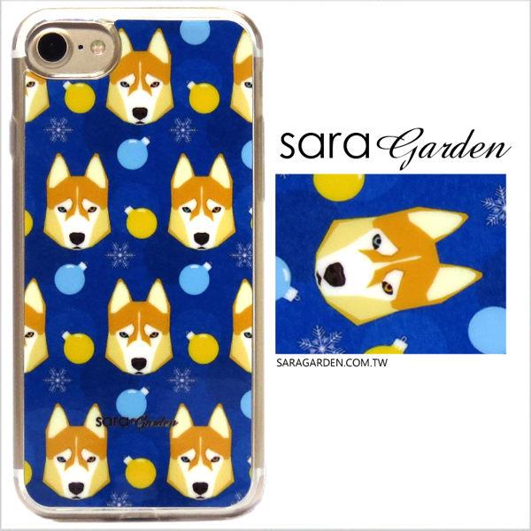 【Sara Garden】客製化 軟殼 蘋果 iPhone6 iphone6s i6 i6s 手機殼 保護套 全包邊 掛繩孔 手繪哈士奇狗狗