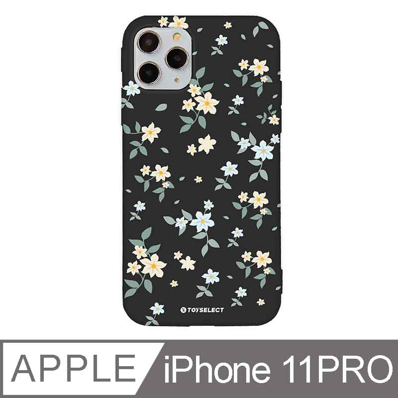 iPhone 11 Pro 5.8吋 花言花語Flower Series設計iPhone手機殼 文藝栀子花 神秘黑