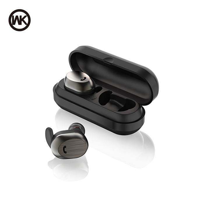 WK BD800 無線雙耳藍芽耳機-黑