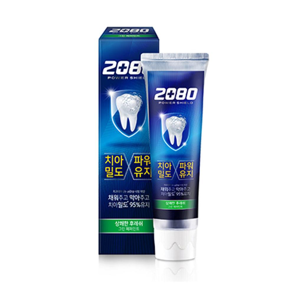 即期【韓國2080】強盾牙齒保健牙膏-清新薄荷 綠(120g)X10入 效期2021.03.26