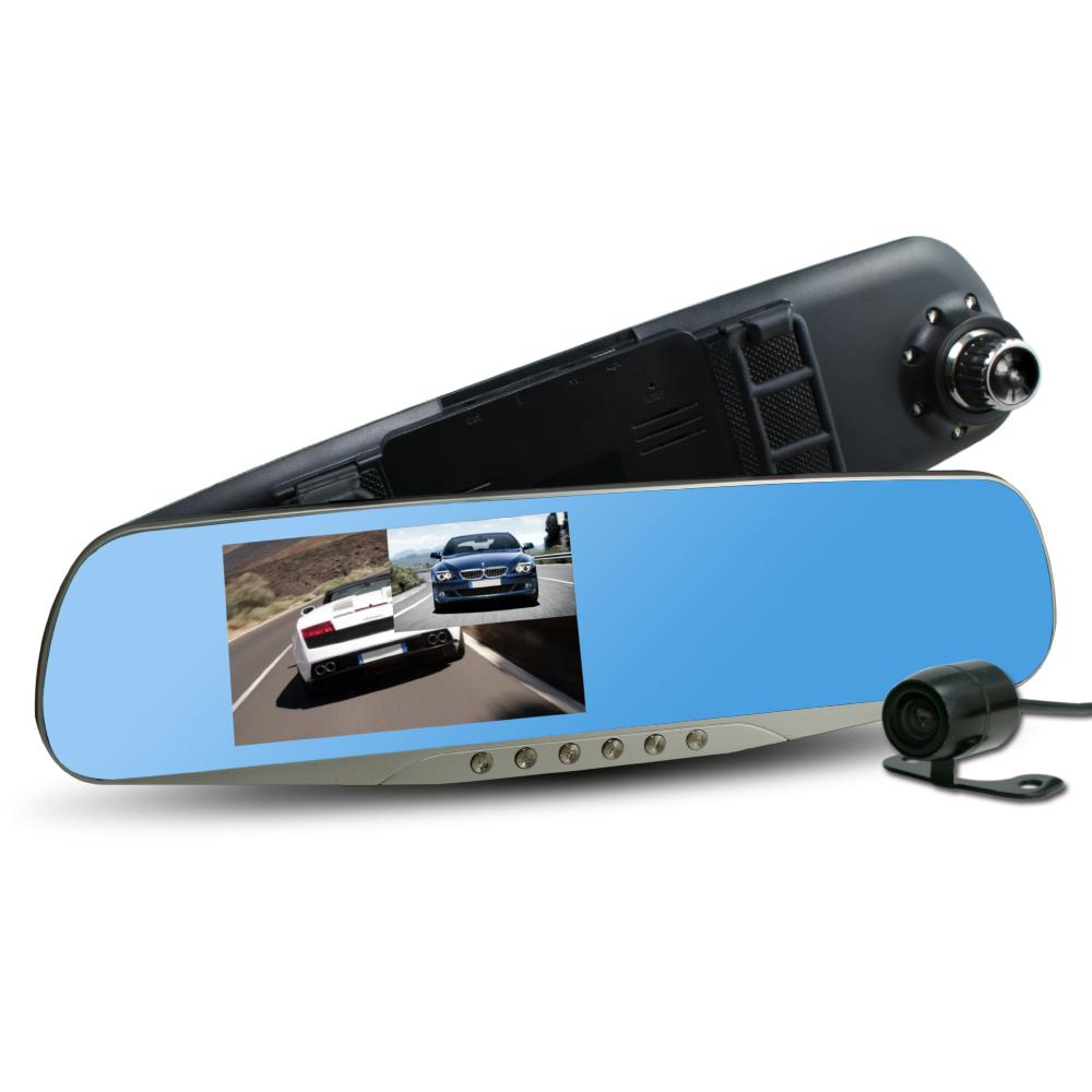 行走天下 CR-05 雙鏡頭後視鏡行車記錄器 加贈8G記憶卡