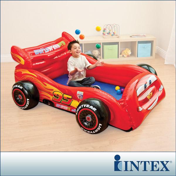 【INTEX】迪士尼卡通CARS汽車造型球池/遊戲池(附10顆彩球)(48668)