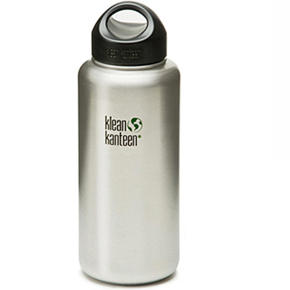 【美國Klean Kanteen】寬口不鏽鋼瓶-1182ml-原色鋼