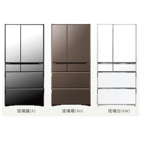 【HITACHI 日立】741L日本原裝六門琉璃冰箱RX740HJ-琉璃褐