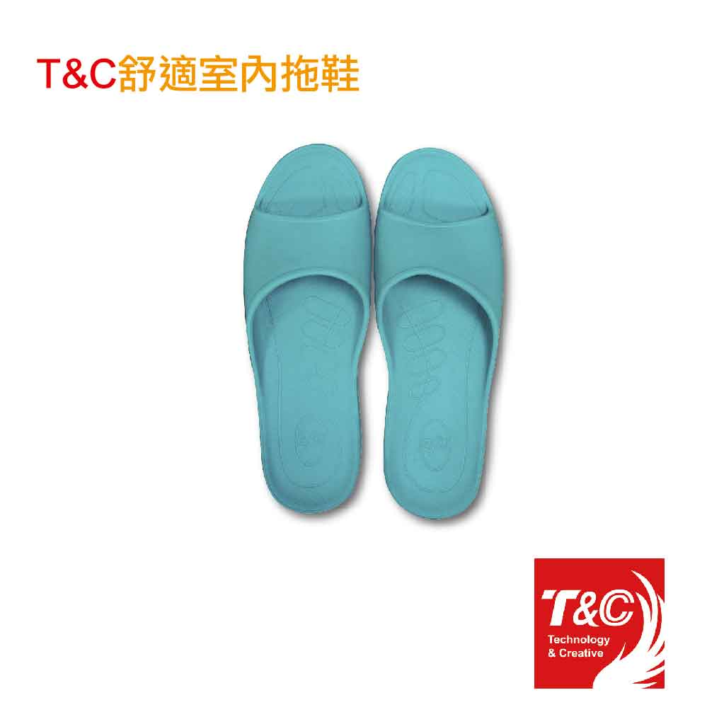 T&C舒適室內男拖-綠色(尺寸XXL / 2雙入)贈涼感巾*1(隨機)