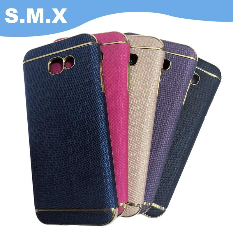 S M X Samsung Galaxy A7(2017) 布紋保護殼 迷幻紫