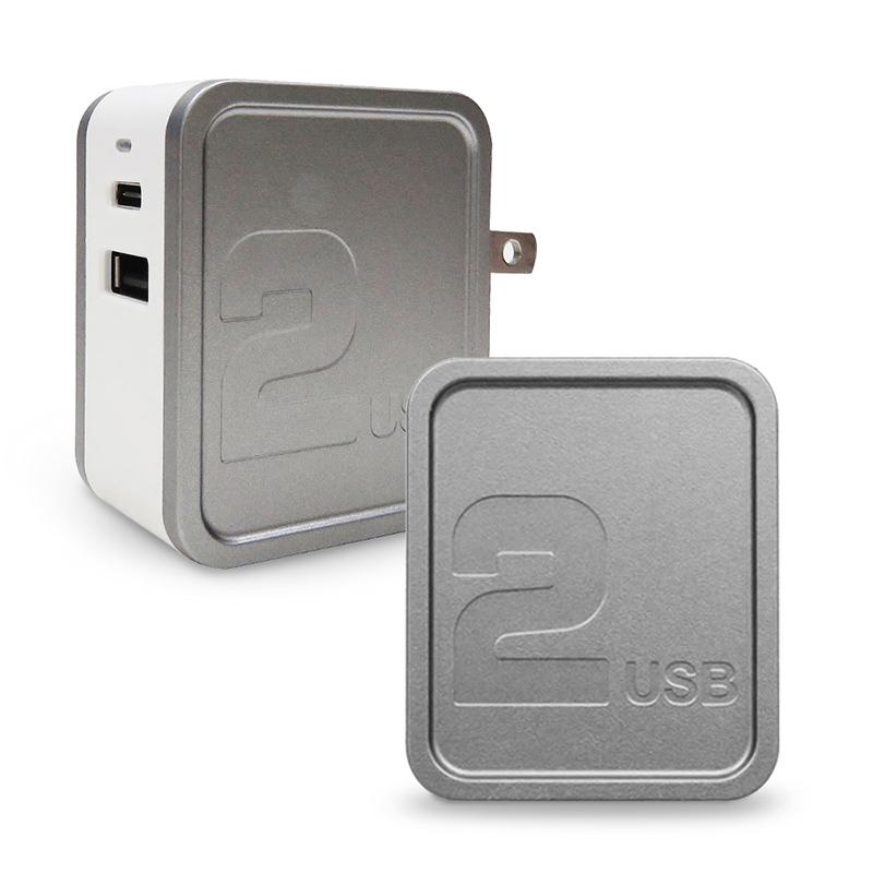 POLARIS PD+QC3.0 雙輸出快充充電器_深灰
