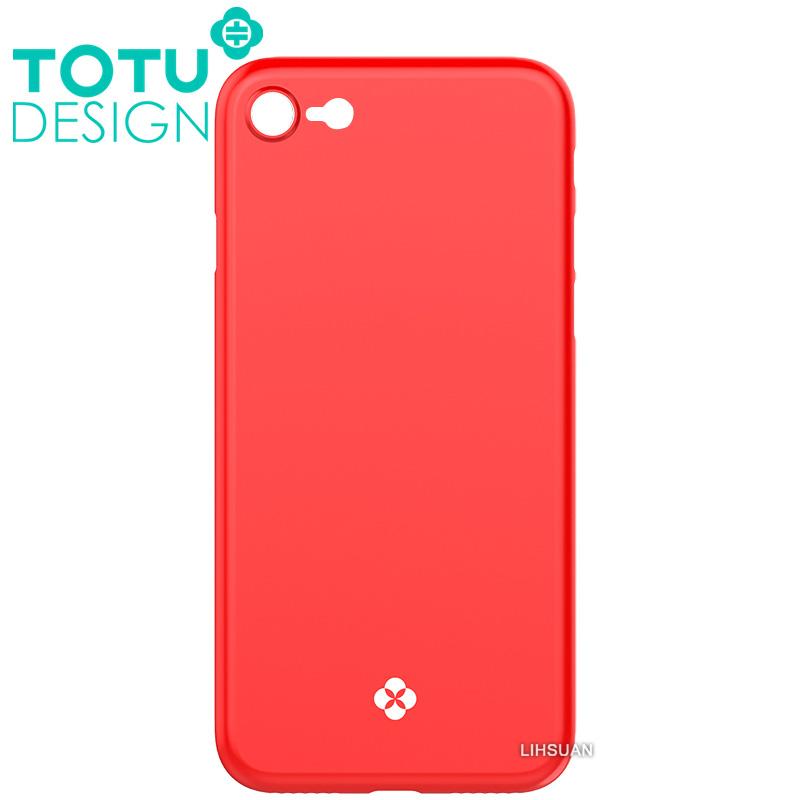 【TOTU台灣官方】iPhone8手機殼 晶瑩系列 紅色