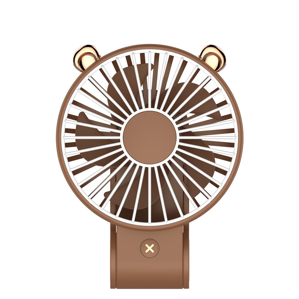 【超萌款】手持可掛可立多功能風扇P23(270度調整風位)棕色