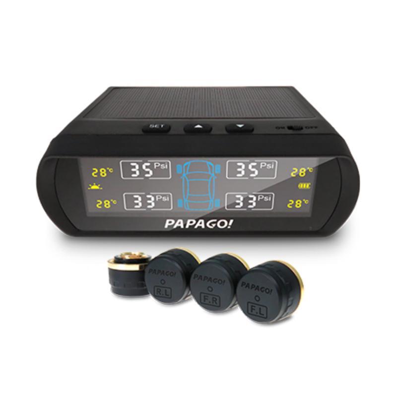 PAPAGO Tire Safe S60E 無線太陽能胎壓偵測器-胎外式