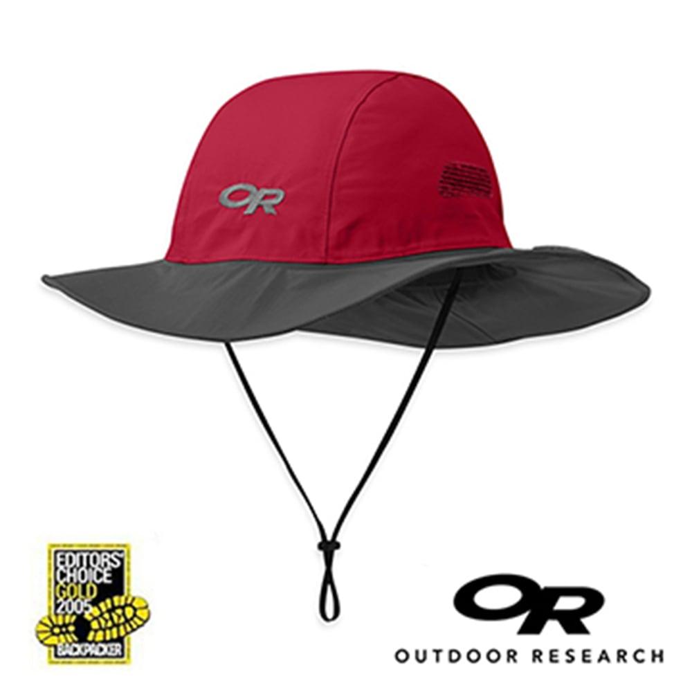 【美國Outdoor Research】暗紅S-經典款Gore-Tex防水透氣防曬可折疊遮陽帽