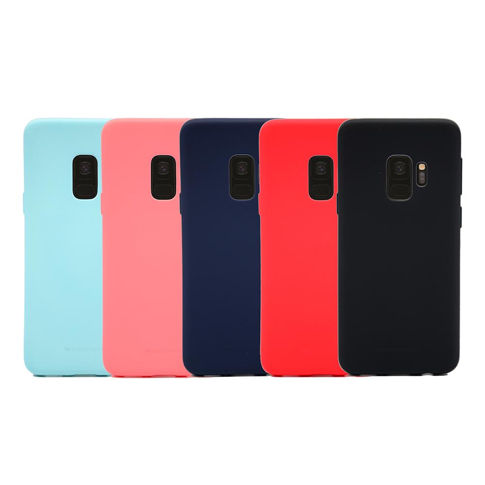 GOOSPERY SAMSUNG Galaxy S9 SOFT FEELING 液態矽膠殼(紅色)
