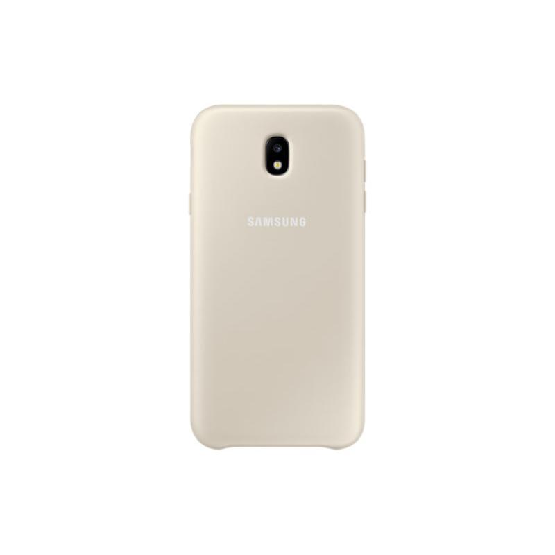 SAMSUNG J7 Pro薄型透明背蓋-PC及TPU 金色