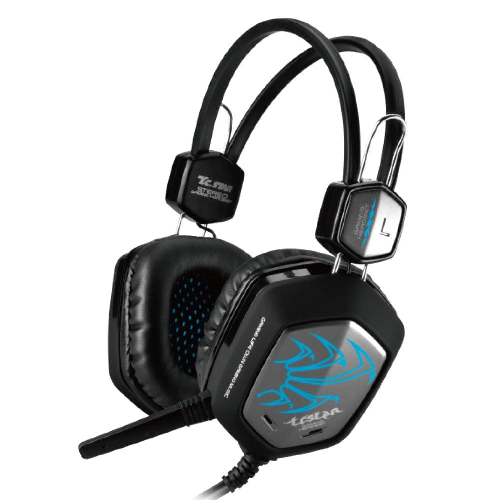 T.C.STAR頭戴式電競耳機麥克風 TCE9010 - 藍色