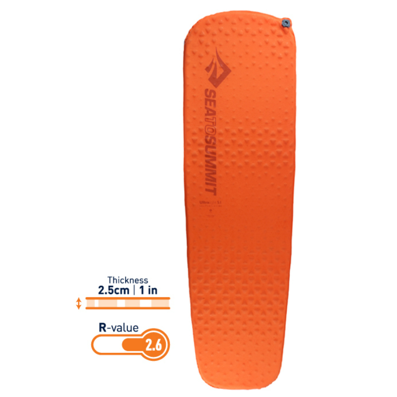 【Sea To Summit】自動充氣睡墊-輕量系列-R 橘(183*51cm)