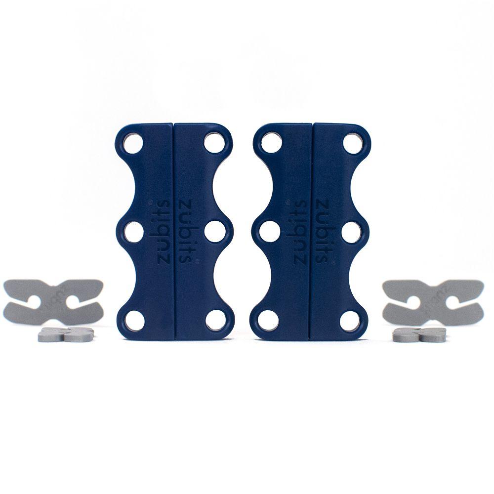 美國 Zubits 強磁鞋帶扣 3 號 - 軍藍