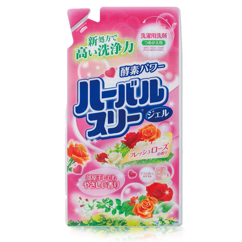 日本Mitsuei美淨易玫瑰花香酵素洗衣精補充包800gx4入
