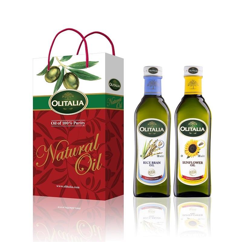 【奧利塔】禮盒組-玄米油500ML*1+葵花油500ML*1