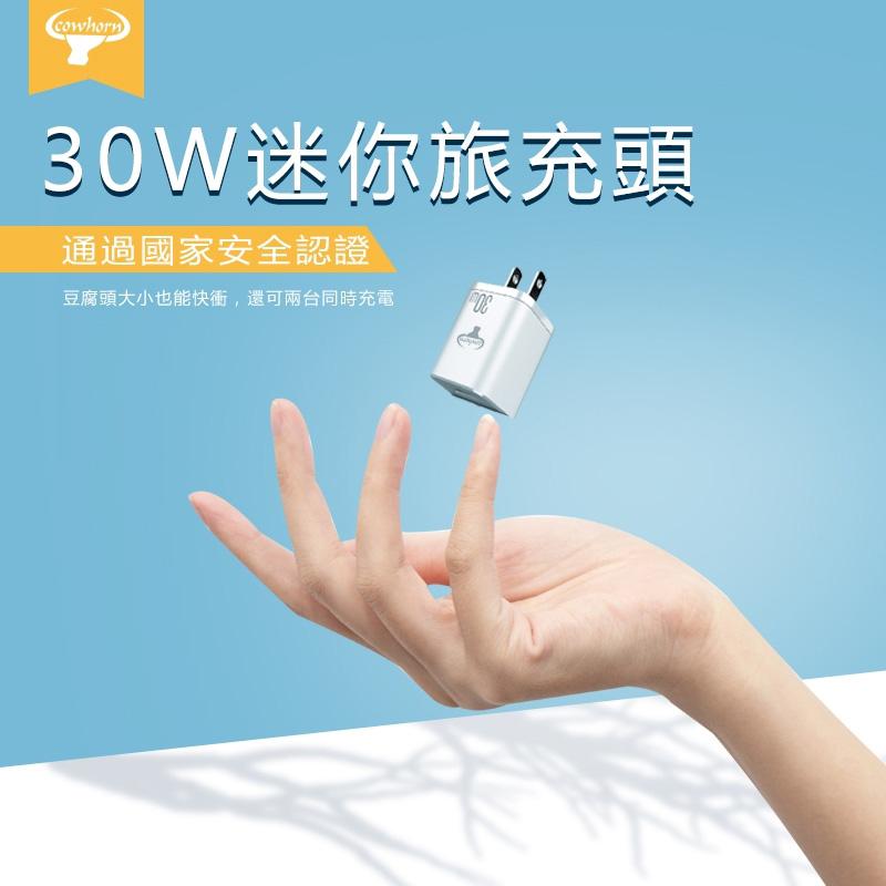 Cowhorn 30W雙孔USB快速充電頭