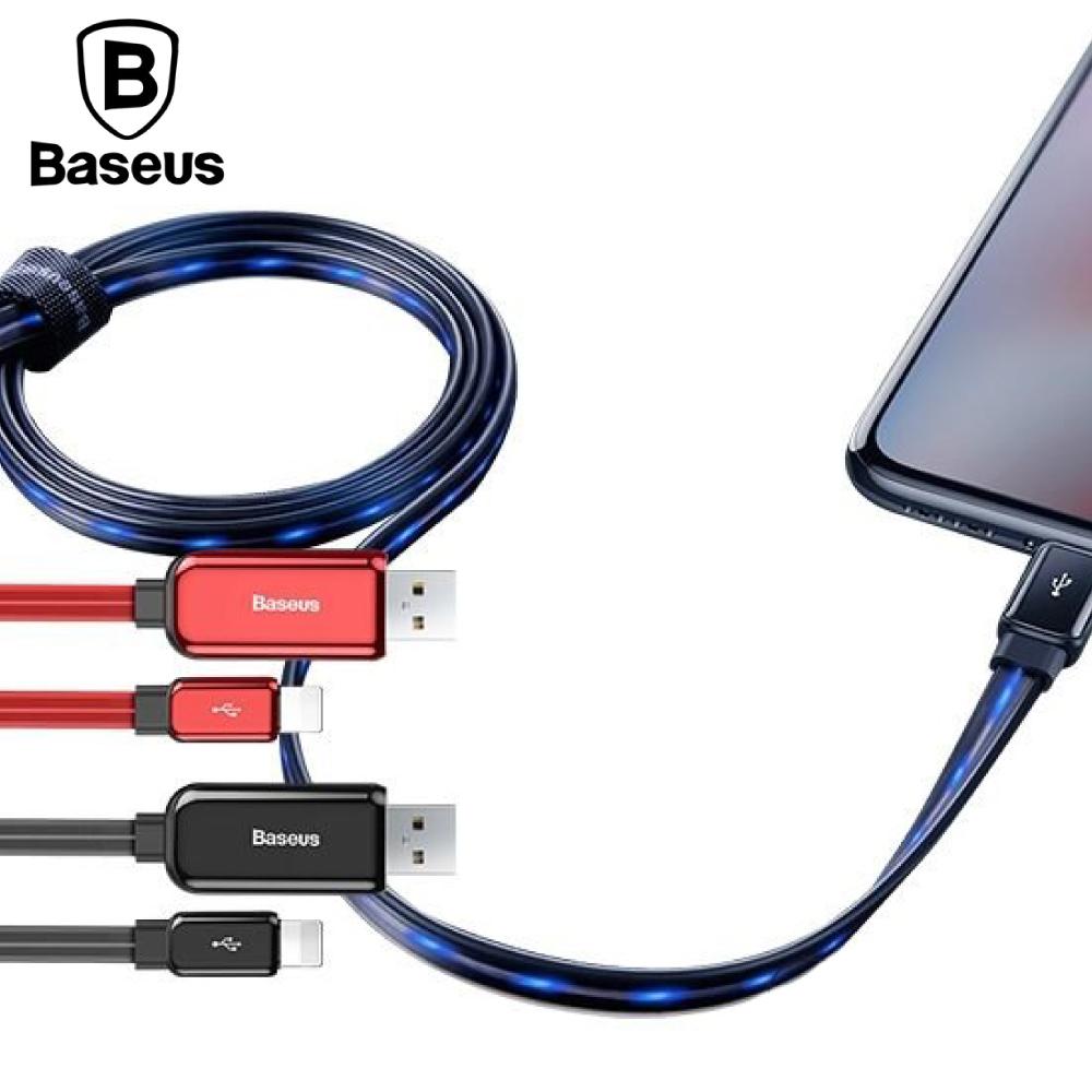 Baseus 倍思 iOS流光數據線 1M - 紅色