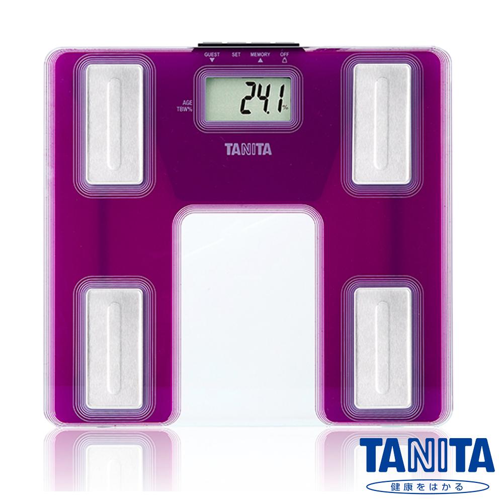 【日本TANITA】超薄強化玻璃體脂計UM-040(迷情紫)