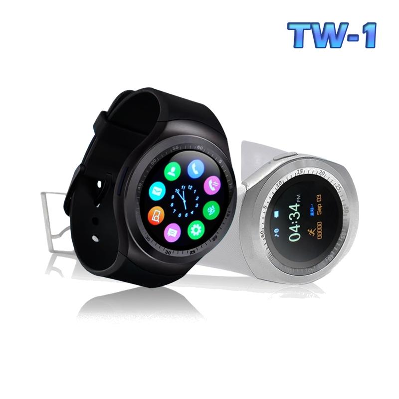 【u-ta】升級款圓款觸控智慧心律手錶TW1(心律版)黑色