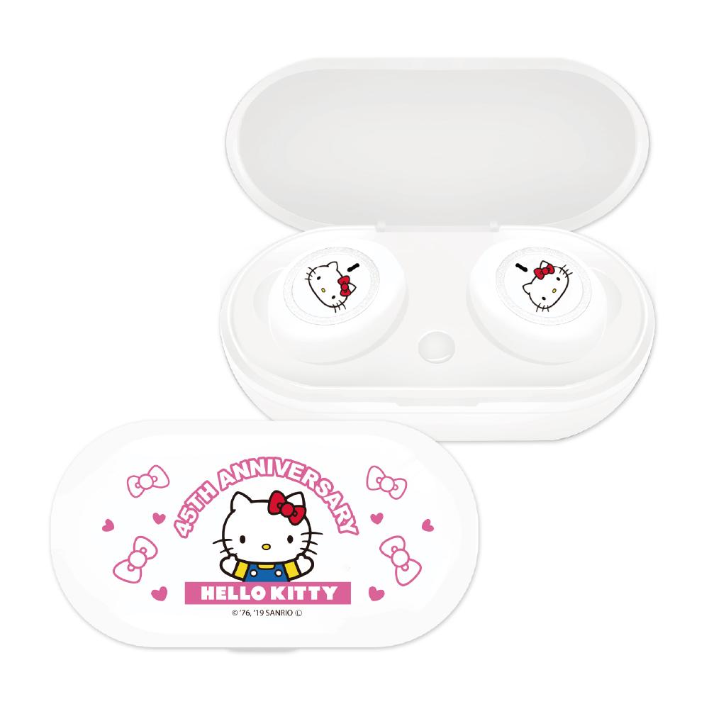 【正版授權】Sanrio三麗鷗 Hello Kitty 無線藍牙耳機-半身白