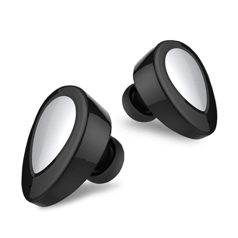 【NAMO】K2 -黑色(雙耳無線藍芽耳機+磁吸充電收納盒 藍芽4.1 LINE通話)