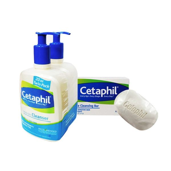 Cetaphil 舒特膚 溫和清潔乳 591ml (20oz) 兩入組 加贈 溫和潔膚凝脂 127g