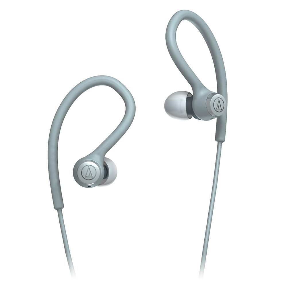 鐵三角 ATH-SPORT10 灰色 防水防汗 耳掛式 運動耳機