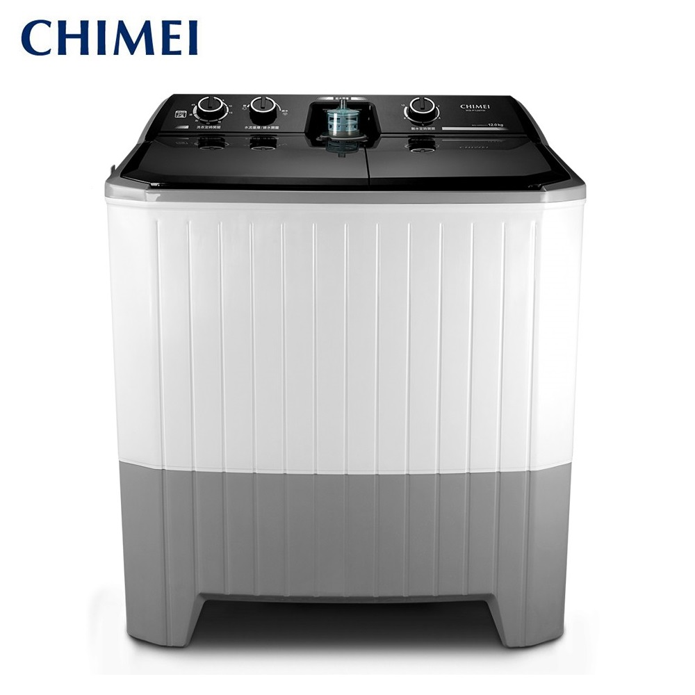 【CHIMEI奇美】洗12Kg/脫8kg雙槽洗衣機(WS-P128TW) 送基本安裝