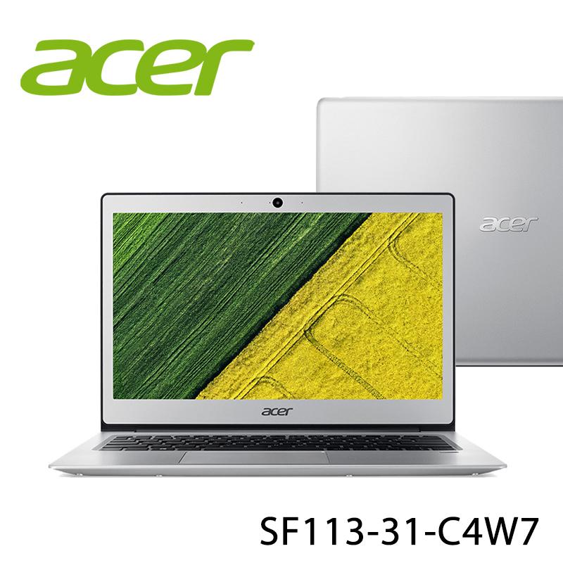【ACER宏碁】SF113-31-C4W7 銀色 13.3吋 筆電(N3350/4G/64G)-送星光大道餐墊