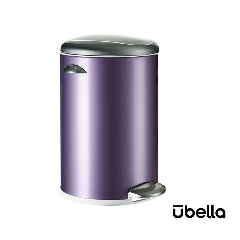 優百納12L百享系列靜音垃圾桶紫色AJ-8012PU