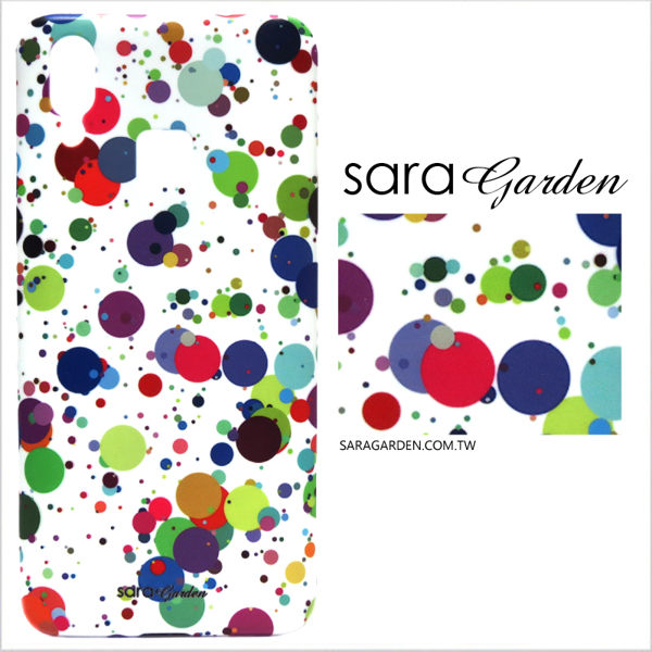 【Sara Garden】客製化 手機殼 SONY XA2 保護殼 硬殼 潑墨潮流圓點