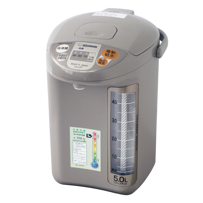 【象印】5公升寬廣視窗微電腦電動熱水瓶 CD-LPF50