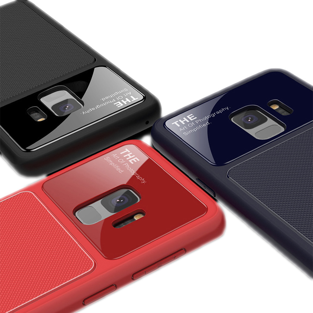 QinD SAMSUNG Galaxy S9 爵士玻璃手機殼(紅色)