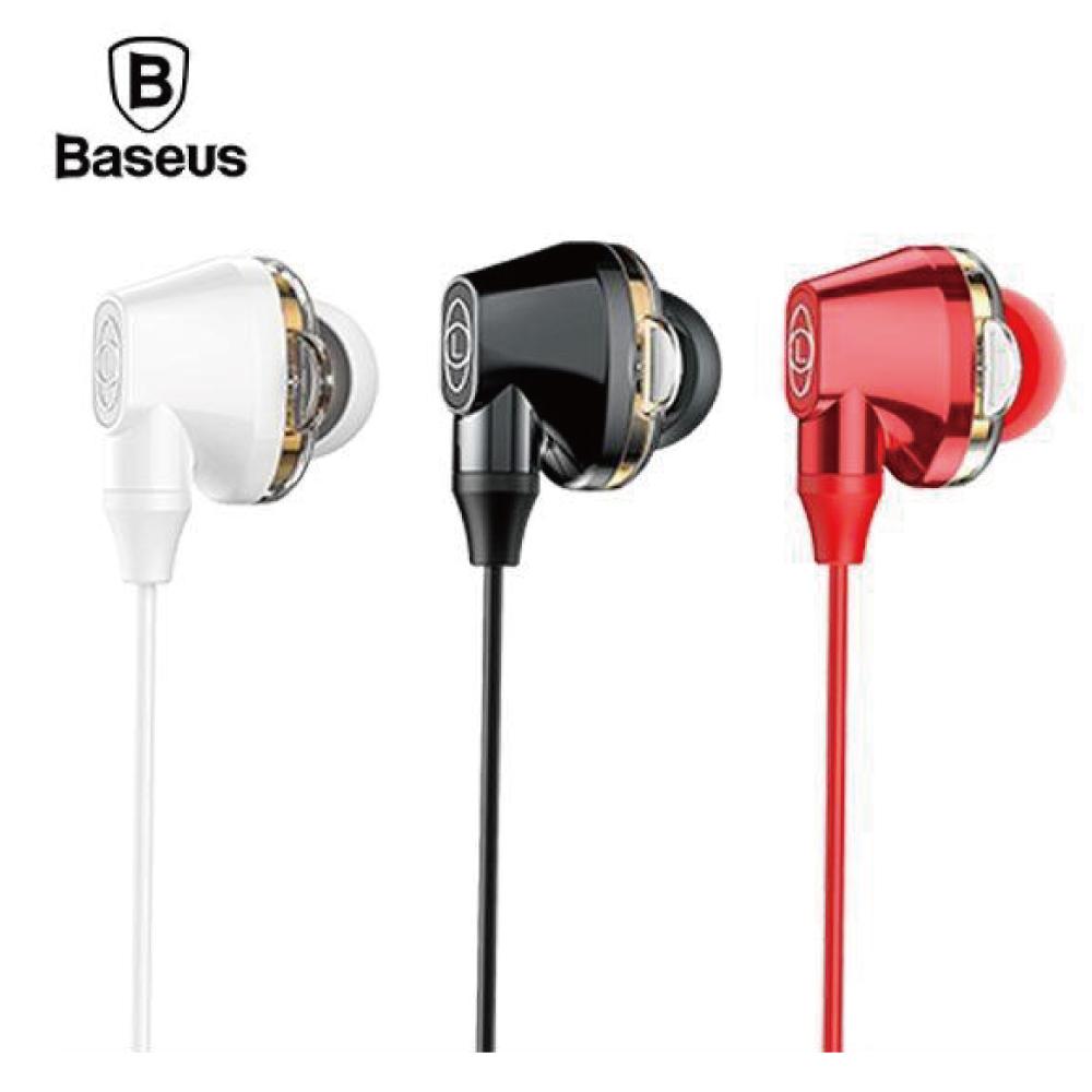Baseus 倍思 H10 Encok 雙動圈線控耳機 - 紅色