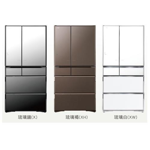 【HITACHI 日立】741L日本原裝六門琉璃冰箱RX740HJ-琉璃白