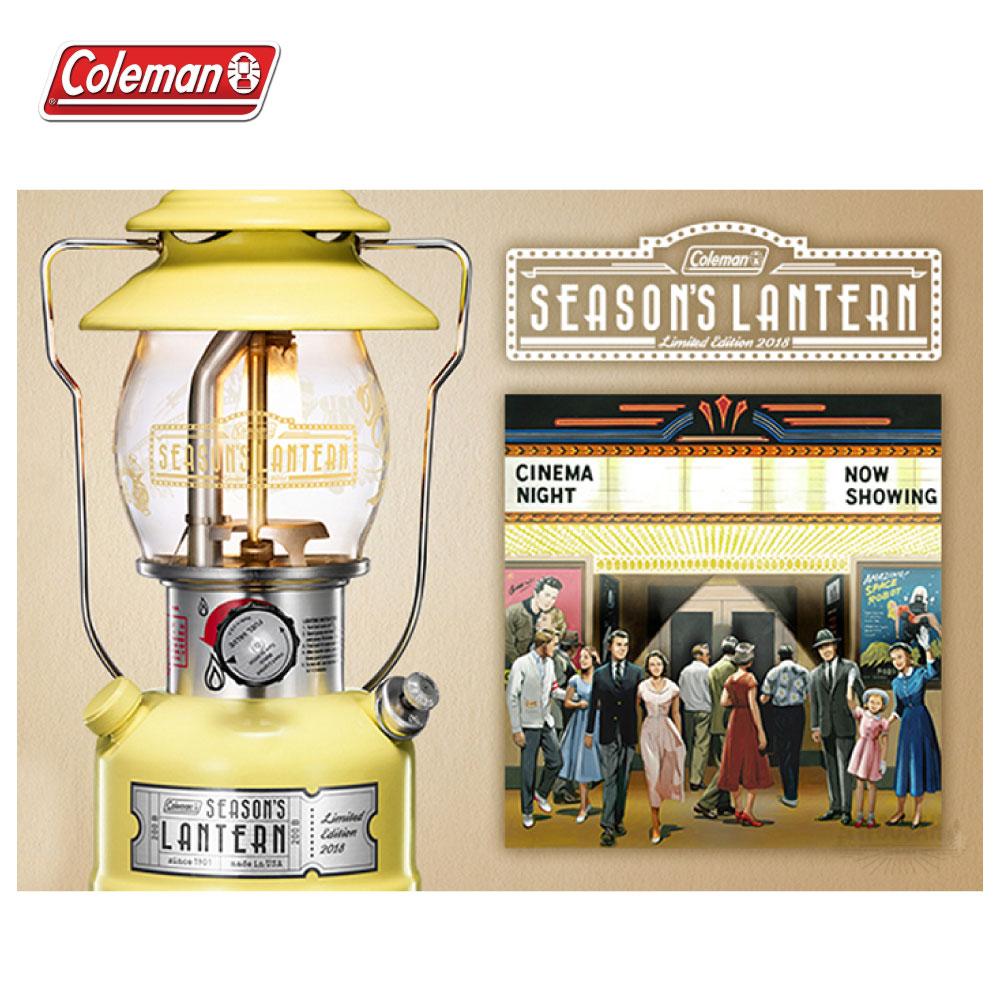 Coleman 日本2018年 限量紀念款氣化燈 黃 檸檬汽水黃 氣化燈 汽化燈 電子點火 露營 CM-28548