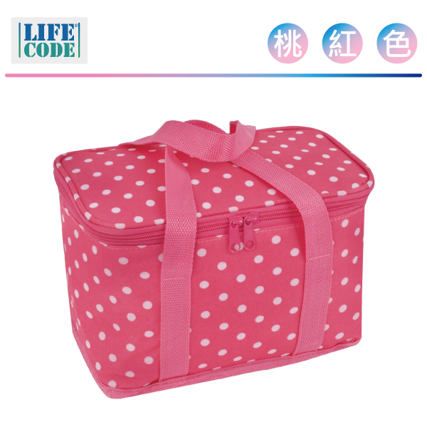 LIFECODE《小丸子》保冰袋/小冰包/便當袋 (6L) - 桃紅