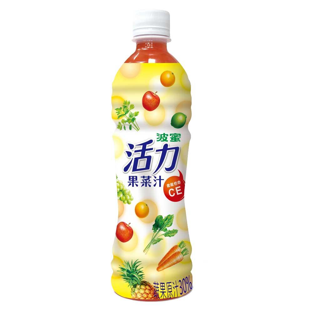 【波蜜】活力果菜汁 500gX24瓶/箱