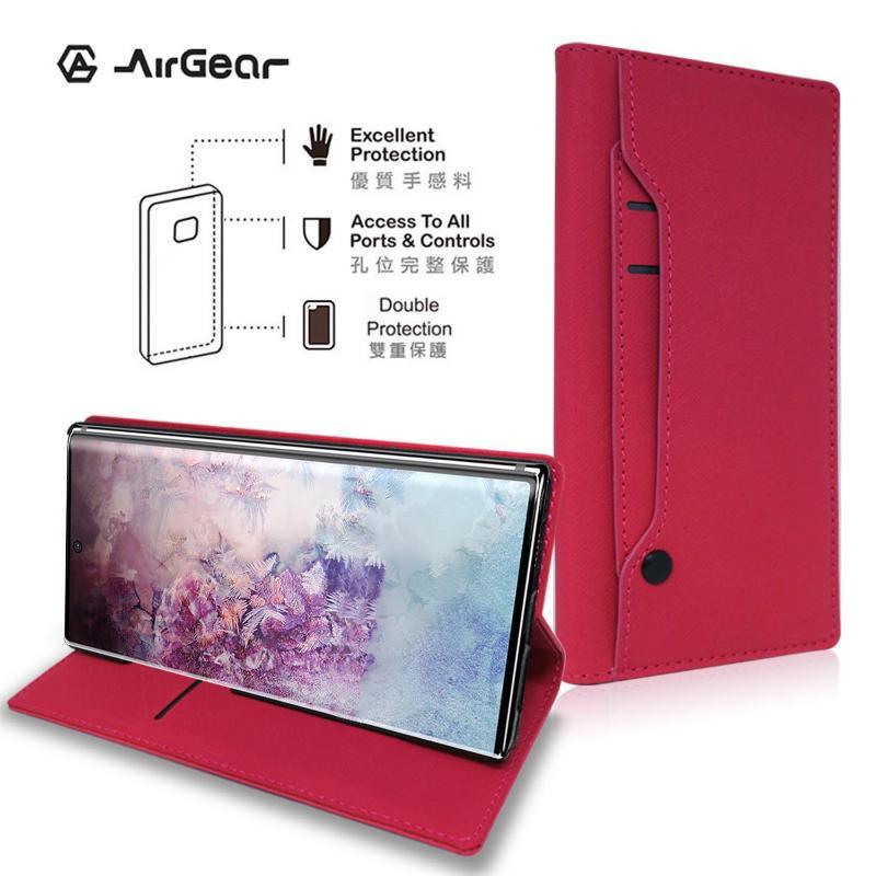AirGear 側掀皮套 SAMSUNG Galaxy Note10 +桃