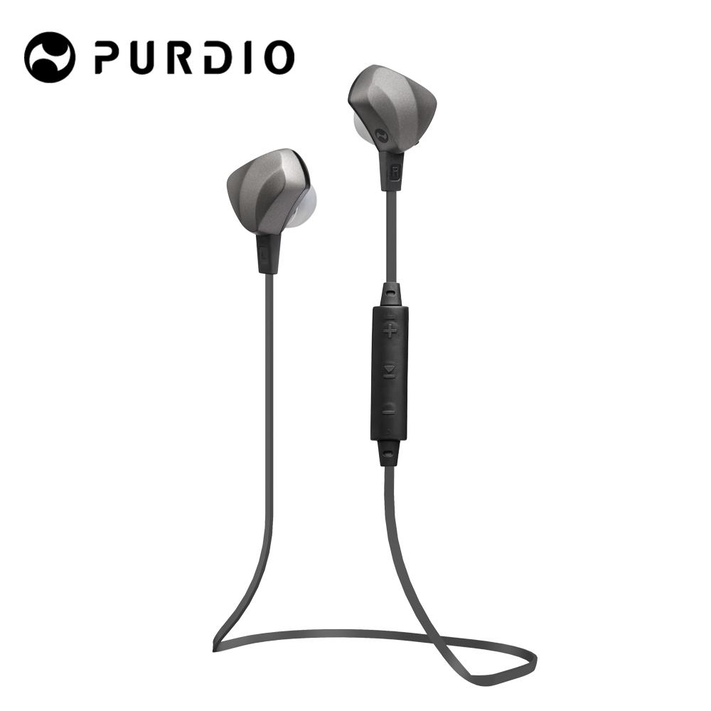 Purdio OPAL EX60藍牙無線運動耳機-石墨黑