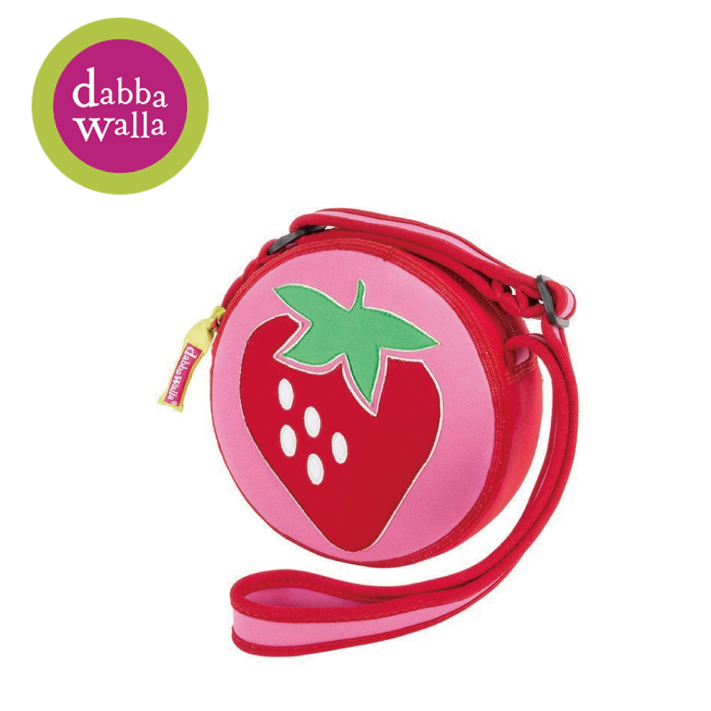 美國Dabbawalla瓦拉包 -草莓小圓包