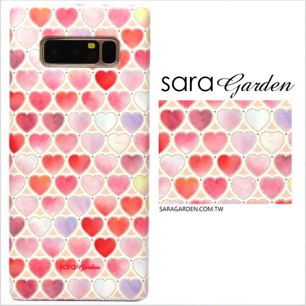 【Sara Garden】客製化 手機殼 Samsung 三星 Note8 暈染 水彩 漸層 愛心 保護殼 硬殼