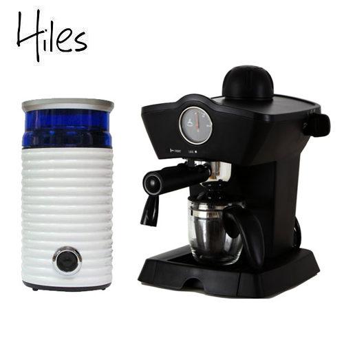 Hiles皇家尊爵組:皇家義式咖啡機+電動磨豆機(HE-303+HE-386W2)