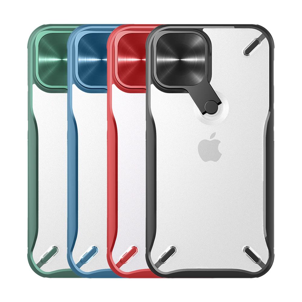 NILLKIN Apple iPhone 12 mini 炫鏡支架保護殼(紅色)