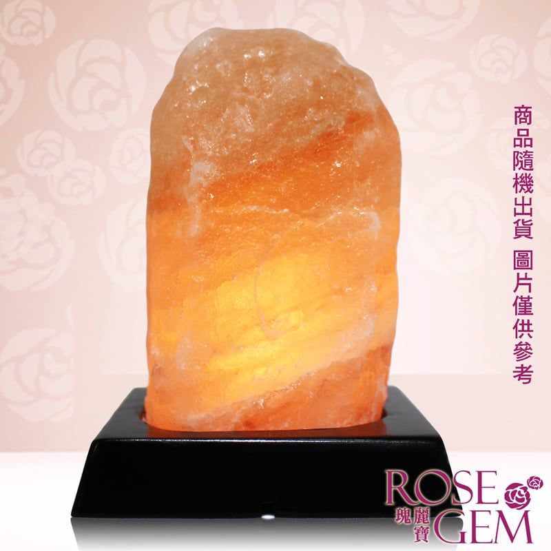 【瑰麗寶】金鑽旺福USB玫瑰鹽晶燈