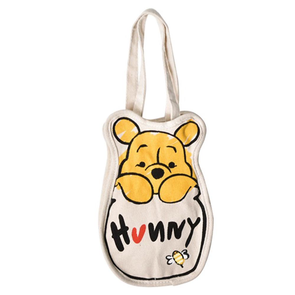 迪士尼系列多功能帆布飲料袋-蜜蜂維尼款